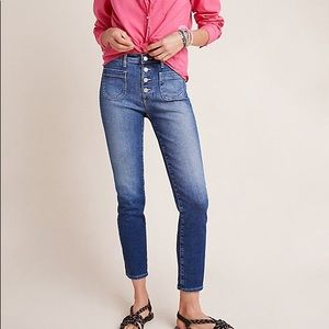 AG The Stevie High-Rise Skinny Ankle Jeans NWT 31